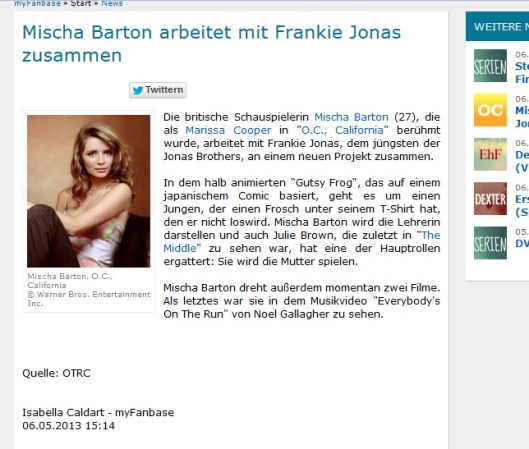 Mischa Barton  06.05.13