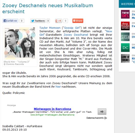 Zooey Deschanel 09.05.13