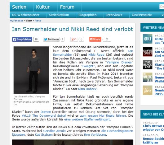 Ian Somerhalder ist verlobt