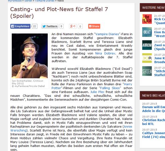 TVD Casting-News