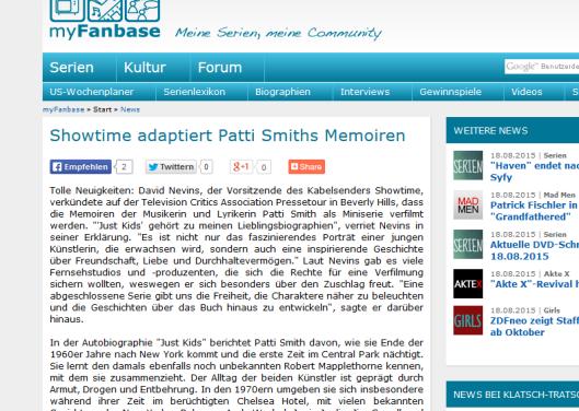 Patti Smiths Memoiren